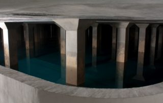 Chembau GmbH Sanierung HB Hochbehälter Wasserbehälter Innsbruck Wasser Kammer Abtrag großflächig Gerinne Abdichtung