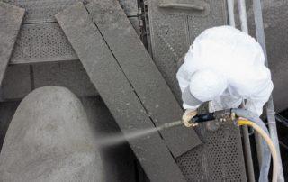 Chembau Sanierung Behälter Spritzbeton Gerüst Spezialgerüst Kaunertal Stausee Überlauf